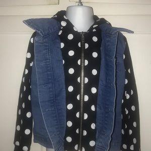 Disney jean Jacket Mini mouse hood size 5
